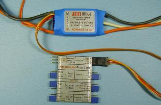 The Prog-Card connected to an Advance Plus 18.