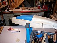 """Name: 20151005_115649[1].jpg Views: 98 Size: 530.9 KB Description: Balsa USA  Nomad 100"""", my current project. I dont believe I've ever had a project evolve the way this one has. Just hope she flies as good as she looks on the bench."""