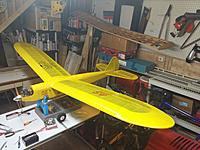 Name: 20150816_210735[1].jpg Views: 87 Size: 634.6 KB Description: Cumulus. A wonderfully relaxing flyer, about to be restored and have the cockpit put back in it and recovered