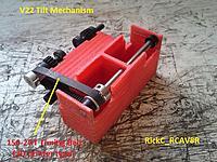 Name: V22_TilterMech1_ 001.jpg Views: 20 Size: 237.2 KB Description: The Jackshaft Rod support structure that was 3D printed .