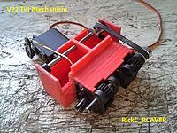 Name: V22_TilterMech1_ 003.jpg Views: 26 Size: 257.6 KB Description: A mock up of hte MG995 metal gear servo and its position .