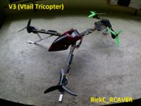 Images & RIX : V3 V-Tail Tricopter - RC Groups