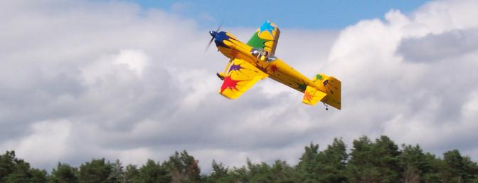 This photo shows the new 1/3 scale Matt Chapman Cap 580 from Great Planes. This model was mentioned in this article and serves as a great example of an aerobatic model with very linear flight characteristics. Be sure to read the text to find out more!