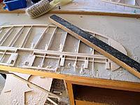 Name: He111-15.jpg Views: 248 Size: 119.9 KB Description: my handy sanding 'jig'...under the balsa dust!