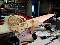 """Name: he111 99.jpg Views: 191 Size: 85.6 KB Description: Checking clearance for a 12"""" prop"""