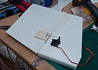 Name: _DSC2657.jpg Views: 149 Size: 877.8 KB Description: Rudder, reinforced packing tape hinges.