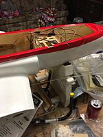 Name: IMG_1887.jpg Views: 25 Size: 346.3 KB Description: fuselage before any work. owner put in servo extensions and servos as well. I will remove all of that before starting.