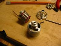 Name: IMG_3176_small.jpg Views: 180 Size: 70.3 KB Description: Triple disassembled, next to double bearing/stator/mount.