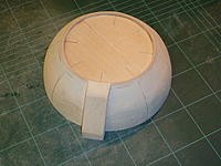 Name: P1050437.jpg Views: 124 Size: 232.8 KB Description: Sanded to shape and details added, a ply ring was added to the top face to give the rounded edge