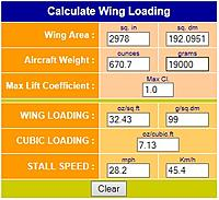 Name: Wing Loading.jpg Views: 205 Size: 42.8 KB Description: Nice low wing loading