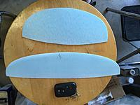 Name: IMG_3882.jpg Views: 1 Size: 2.46 MB Description: Newly cut, trimmed and sanded foam cores for a fin and stabilizer.