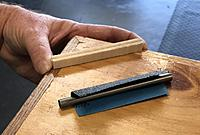 Name: Sanding the groove.jpg Views: 50 Size: 127.7 KB Description: ... and sand until the saw cut disappears. The groove helps greatly to keep the sanding process simple. (Thanks Liam)