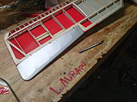Name: mike1.jpg Views: 33 Size: 238.7 KB Description: Bottom covered with aileron in place (not permanent yet). I thickened the rib where the gray ended to prevent bowing.