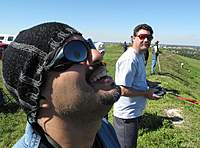Name: IMG_4547 (Large).jpg Views: 135 Size: 105.8 KB Description: Ben sent me this pic.  Check out DJ's sunglasses, he just got hit with bird doo!