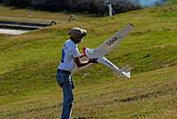 Name: DSC_6728_DxO (Custom).jpg Views: 108 Size: 85.9 KB Description: Foot checks out his Spatz for damage.