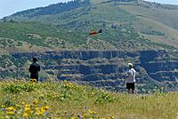 Name: DSC_8214_DxO.jpg Views: 136 Size: 203.4 KB Description: Tom runs the ridgeline with his SS.  That slope in background is the WA side of the Gorge (actually Lyle, WA).