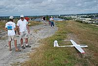 Name: DSC_4745 (Large).jpg Views: 54 Size: 303.1 KB Description: The East flightline, while Foot and Joe decide on launching Foot's Discus.