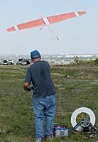 """Name: DSC_5216_DxO.jpg Views: 29 Size: 111.1 KB Description: Dan sends his 2M """"home built"""" plane up the winch."""