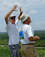 Name: DSC_1668_DxO.jpg Views: 74 Size: 111.5 KB Description: Tom shields his eyes while talking to Larry L.