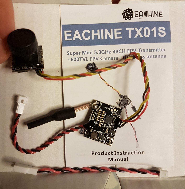 Mini-Review Review of Eachine TX01S - NTSC 5 8G 40CH 25MW