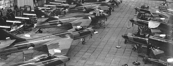 Fokker assembly line