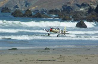 Beach landings are no problem on damp sand.