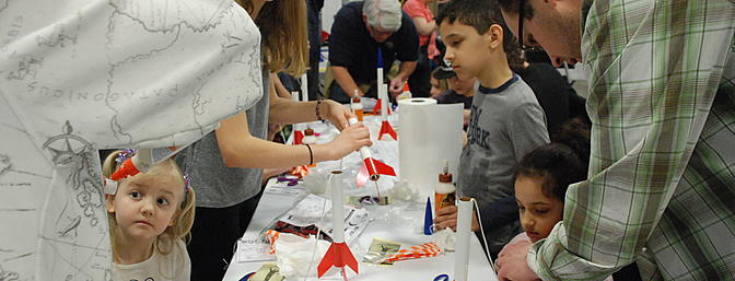 """I saw a """"build and take"""" your own rocket arts-and-crafts exhibit and was tempted to sit down until I saw all the children. They looked so enthralled with what they were doing, they're enthusiasm was contagious."""