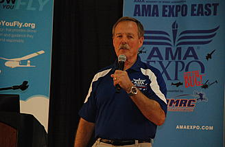 Astronaut and AMA ambassador, Hoot Gibson was here giving lectures and he will be all weekend!