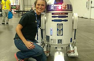 I was excited to meet R2D2!