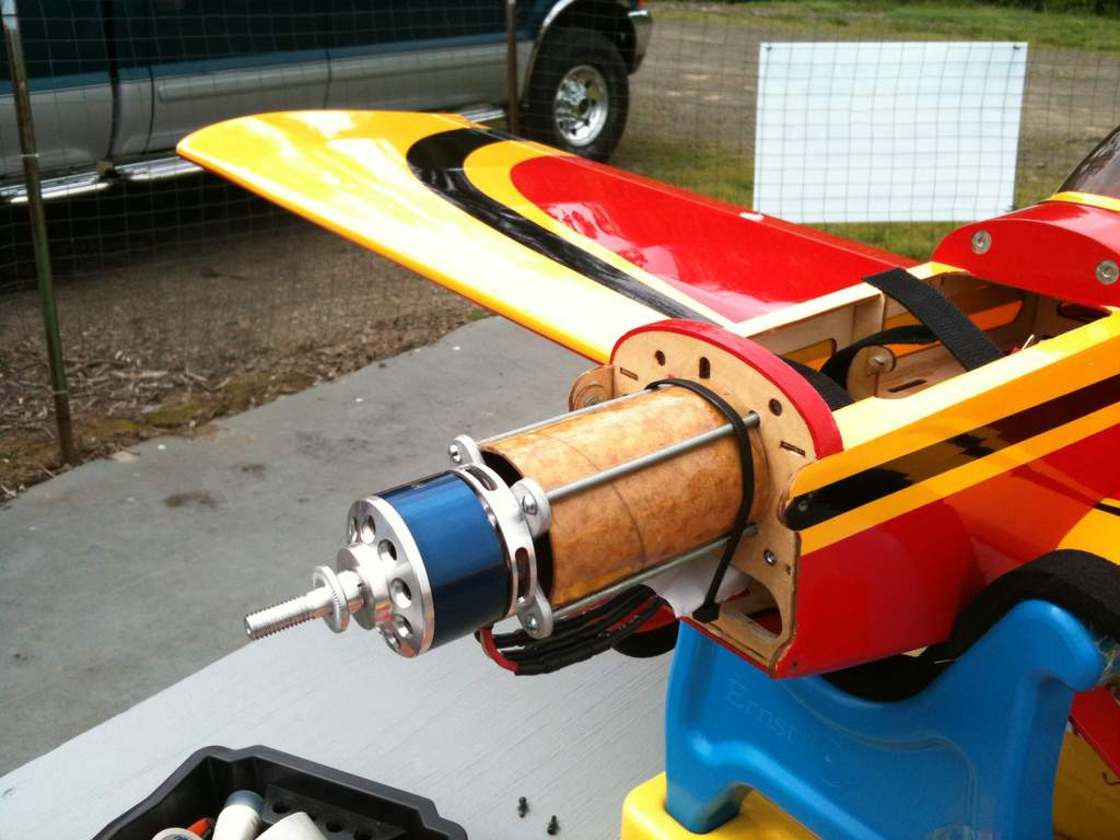 Help! mounting an electric motor on a model built for glow