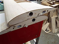 Name: DSCF8830.jpg Views: 37 Size: 1.02 MB Description: The root ribs (and fuse sides) were drilled so that wing retainer bolts could be inserted.