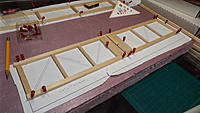 """Name: DSCF1319.JPG Views: 39 Size: 5.23 MB Description: 1/4"""" x 3/8"""" hard balsa for the outer edges, 1/4"""" sq for the cross pieces, then 1/8"""" x 1/4"""" for the diagonals."""