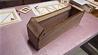 Name: DSCF1383.JPG Views: 45 Size: 2.74 MB Description: The cabin/radio box is built a little at a time.  Here I've added the top cross-pieces which add tremendous strength.