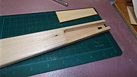 """Name: DSCF1440.JPG Views: 24 Size: 2.70 MB Description: The tail wheel mounting bracket needs something solid to keep it in place.  I replaced the last few inches of 1/16"""" balsa with 3mm lite ply."""