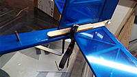 Name: DSCF1517.JPG Views: 25 Size: 2.61 MB Description: Scrap wood spreads the load so the clamps don't damage the balsa.