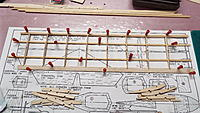 Name: DSCF1941.JPG Views: 30 Size: 2.59 MB Description: Adding the ribs to the TE and lower spars, then the LE.  Top spar hasn't been added yet.  Root rib will be added after I figure the right angle for mating to the other wing.