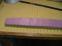 Name: dscf8827.jpg Views: 222 Size: 74.0 KB Description: The drilled holes are 0 degree references for the future.  I forgot to mention to drill those in the balsa before removing the paper.  Use a drill press - they need to be perpendicular to the wood surface.