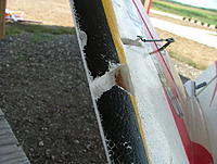 """Name: t_dscf9099.jpg Views: 242 Size: 146.2 KB Description: Cut out the LE area.  You need about 1"""" to hold the pitot tube stable."""