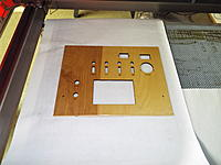 Name: DSCF1024.jpg Views: 159 Size: 554.1 KB Description: I had to help a few of the parts come out, but nothing to worry about.  Most just snapped right out.  One thing I could have done better would be to slow down the etch a wee bit.  Because of the varnish finish some of the letters are missing bits.
