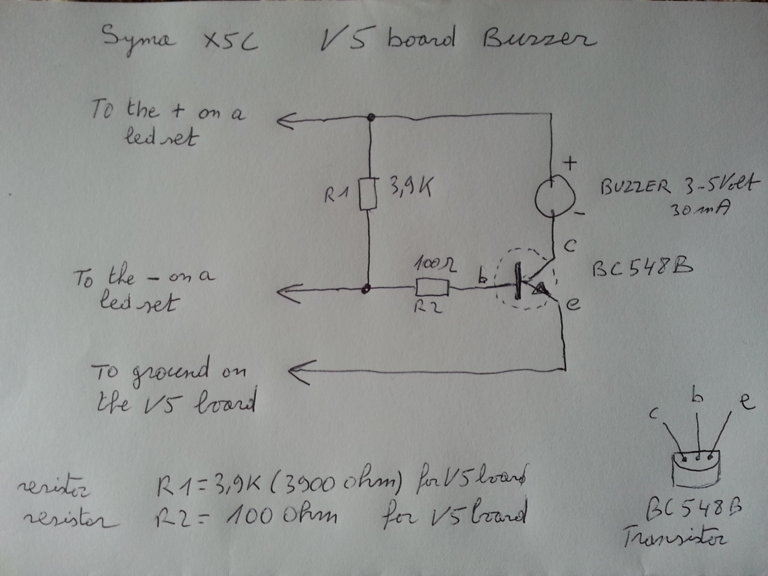 Attachment browser: Syma X5C buzzer schematic.jpg by Alias_Hendrik on