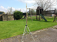 """Name: 20170402_144902.jpg Views: 187 Size: 826.1 KB Description: Simple tripod and """"clip on"""" wooden plank to mount a FR632 on top."""