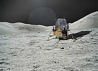 Name: B4A9131A-F4F2-4A0E-A9A3-D348E85D07E3.jpeg Views: 1 Size: 200.0 KB Description: Apollo 11 Lunar Module at Tranquility Base, July 20th 1969.