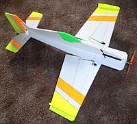 Name: P4081582web.jpg Views: 19 Size: 310.9 KB Description: Lipo sits on top .. a 450 2s or 3s.. 2 wing servos tgy1440a seen here Also seen the wing tip side force generators fitted on the ailerons