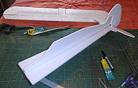 Name: P6021606web.jpg Views: 5 Size: 347.6 KB Description: Fuz built .. NOTE....line up at the tail end makes the rudder easier to fit..