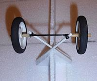 Name: P9211663.jpg Views: 1 Size: 199.6 KB Description: X wheel set... the white legs are from 4mm FG curtain rod