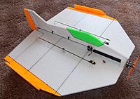 Name: P9211668.jpg Views: 1 Size: 318.0 KB Description: All done the AUW is absolutely identical to the previous XPS foam version giving a 2.4ozsqft wing loading..