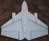 """Name: P2180186.jpg Views: 12 Size: 292.7 KB Description: COG on a 24"""" is 12.4"""" back from the nose.. 78g ...no gear"""