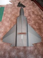 Name: P5130005.jpg Views: 219 Size: 85.5 KB Description: The big jets use a sub rudder here it isin place..  the fuz bottom sheeting is not being fixed untill after the servos are fitted