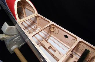 The balsa and lightweight ply construction provides a warp free and robust airframe.