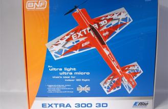Very cool box top picture of the E-flite UMX Extra 300 3D BNF.